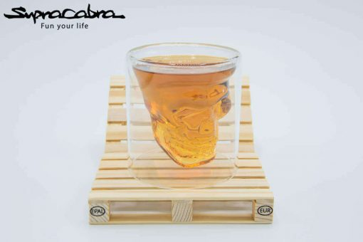 3D Skull Glass on our Pallet Coasters by Supracabra.com - Fun your life