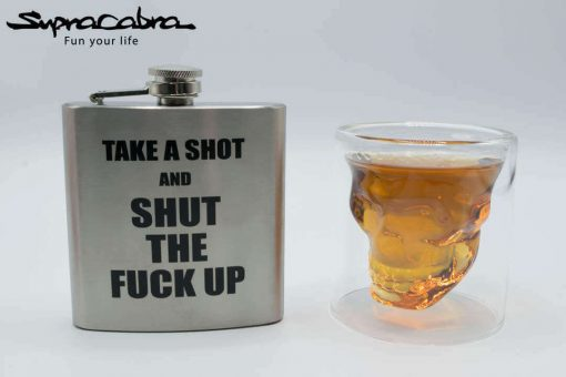 3D Skull Glass with our TASASTFU Flask by Supracabra.com - Fun your life