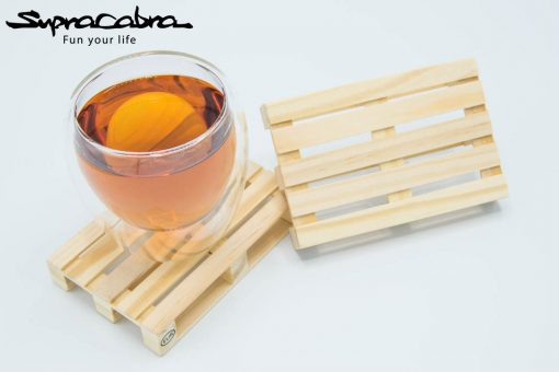 Double Walled Glass (Set of 2) on our Pallet Coasters 3 by Supracabra.com - Fun your life