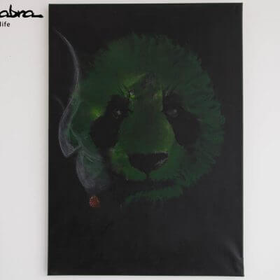 Ganja Panda Painting Original by Supracabra.com - Fun your life
