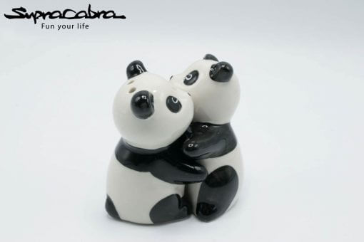 Panda Salt and Pepper Shakers hugging by Supracabra.com - Fun your life