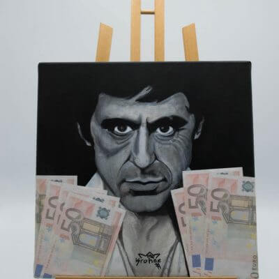 Scarface Painting Original by Supracabra.com - Fun your life