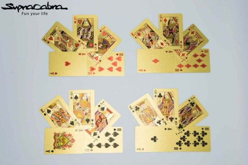 Gold Playing Cards 4 suits by Supracabra.com - Fun your life