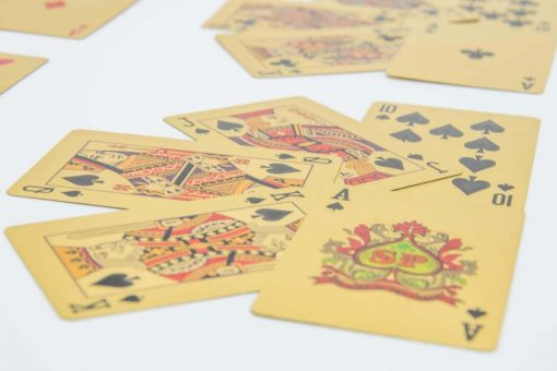 Gold Playing Cards close up by Supracabra.com - Fun your life