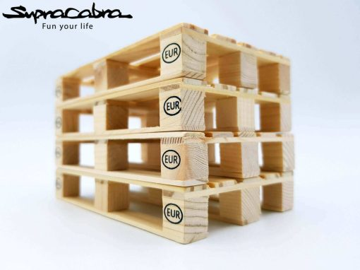 Pallet Coasters (Set of 4) stacked 2 by Supracabra.com - Fun your life