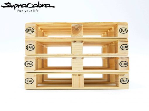 Pallet Coasters (Set of 4) stacked 3 by Supracabra.com - Fun your life
