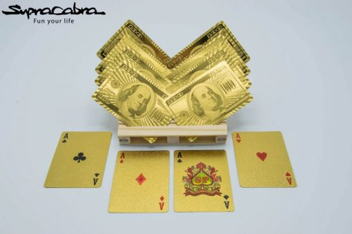 Pallet Coasters (Set of 4) with our Gold Playing Cards by Supracabra.com - Fun your life