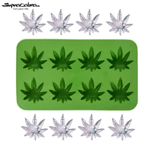 Weed Ice Cubes - Weed Leaf Ice Cube Tray and cubes Supracabra - Fun your life