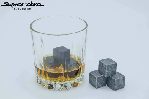 Whiskey Stones (Set of 6) in a whisky glass by Supracabra.com - Fun your life