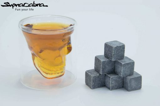 Whiskey Stones (Set of 6) with our 3D Skull Glass by Supracabra.com - Fun your life
