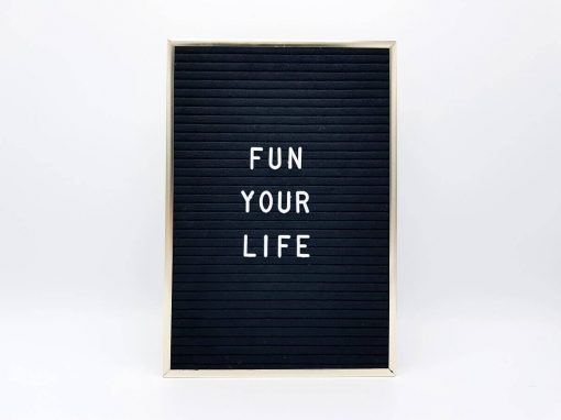 Vintage Felt Letter Board quote by Supracabra.com – Fun your life